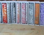 "Grab Bag: 5 Blank Handmade Notecards w/ Envelopes 4""x5.5"""