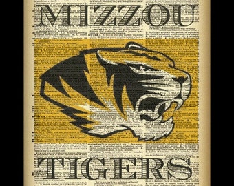 Missouri Tigers Dictionary Page photography print
