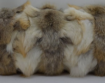 Real Fox Fur Pillow Golden Island sections new  made in usa  authentic cushion