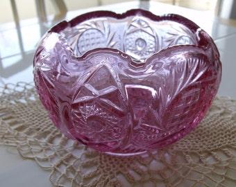 Fenton Rose Bowl - Dusty Rose Color