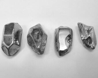 Silver Metallic Quartz Points Polished 24-27 mm 4 pcs (S15)