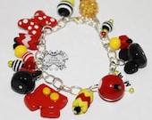 Mister Mouse Bracelet   Miss Mouse Bracelet   Kid's bracelet   Charm Bracelet   Mouse Pendants