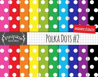 Polka Dot Digital Paper, Commercial Digital Paper, Digital Download, Printable Scrapbook Paper