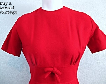 Vintage 50s Cherry Red Sheath