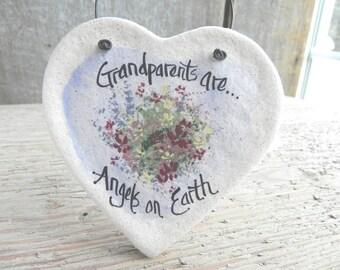 Grandparents Gift Salt Dough Ornament / Birthday / Mother's Day / Christmas Ornament / Wedding