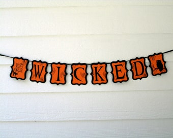 WICKED Banner, Halloween Party Banner, Sale Banner