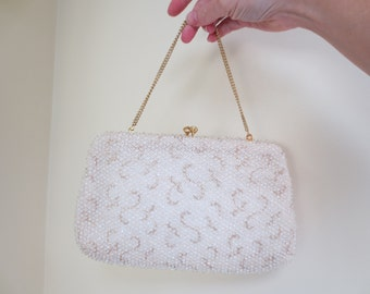 Vintage White Clutch With Tags