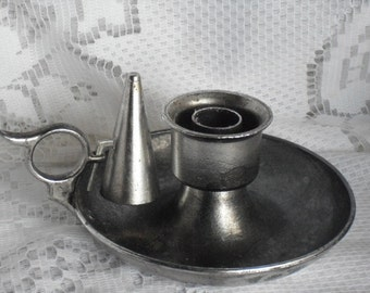 Pewter Chamber Candle Holder