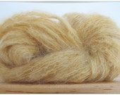 50 g mohair organic wool yarn naturally dyed golden blond for doll hair dolls wig