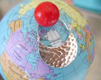 Thai Karen Silver Earrings - A Crescent Moon(7)