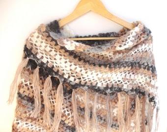 Crochet Shawl Scarf Winter Accessories Women Shawl Wrap Scarf Crochet Scarf Shawl Gifts For Her Crocheted Shawl senoaccessory