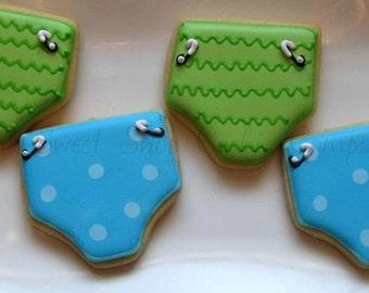 Funky Diaper Cookies 2 dozen