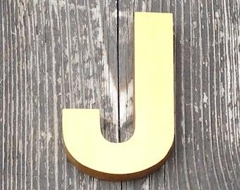 J - Reclaimed vintage letter - gold