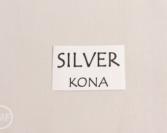 One Yard Silver Kona Cotton Solid Fabric from Robert Kaufman, K001-1333