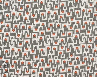 Half Yard MicroMod Arches in Gray, Rob Bancroft, 100% GOTS-Certified Organic Cotton, Cloud9 Fabrics