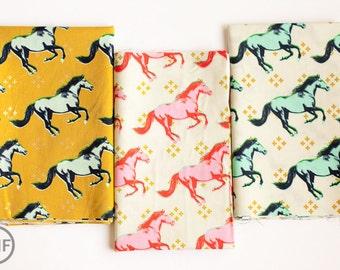 Fat Quarter Bundle Mustang, 3 Pieces, Melody Miller, Cotton+Steel, RJR Fabrics, 100% Cotton Fabric, 0003