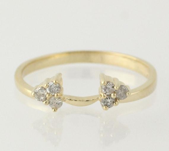 engagement ring enhancer wedding band 14k yellow