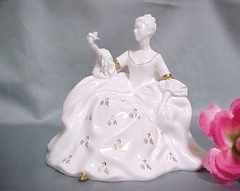 Royal Doulton Figurine of Antoinette HN 2326 Retired, Pretty Ladies Series, Vintage Home Decor, Porcelain Collectible Figurine, English Art
