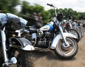 Motorcycle print- Harley Davidson photography- gifts for bikers- gifts for men- Panhead photo- Matted 8x10- matted 5x7