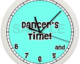 DANCERS time ballet WALL CLOCK