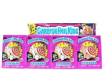 4 Garbage Pail Kids Sticker Packs 7th Series 1986