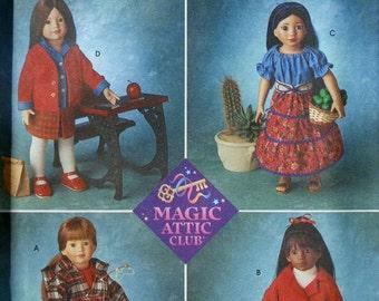 "Simplicity Crafts 18"" Doll Clothes MAGIC ATTIC Club Sewing Pattern 8451UNCUT - Fits American Girl Our Generation Carpatina Gotz Dolls"