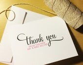 Wedding NEW Mr. & Mrs. Thank You Cards