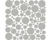 100 Wall Safe Vinyl Polka Dots Circles Decal Grey Gray Medium Removable Stickers Adhesive Nursery Crib Kids Kid Childs Bedroom Room