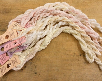 Creamy Whites Thread Pack of 10 skeins of Edmar Thread.