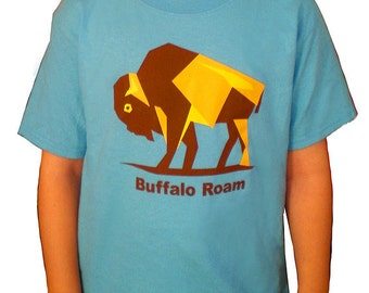 Children's TShirt, Toddler Graphic Tee - 'Buffalo Roam'