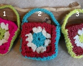 Small OCH Crochet Soap or Gift Cozy Bag (choose 1)