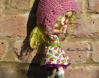Blythe Summer Mini Dress, Pixie Hat & Accessories. SALE  (BD81014)