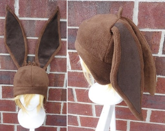 Eevee Pokemon Hat - Fleece Hat Adult, Teen, Kid - A winter, nerdy, geekery gift!