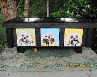 Small Handmade Elevated Pet Feeder-Custom Order