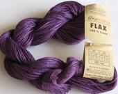 Purple Flax Yarn, Fibranatura Flax Yarn Color #08 Purple Lot #8459
