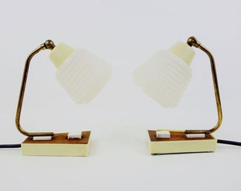 2 Mid Century Bedside Lamps