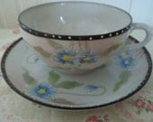 Hand Painted ViNtAgE Nippon TeaCup and Saucer