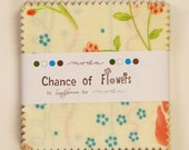 SALE - Chance of Flowers by Sandy Gervais for Moda -  Mini Charm Pack