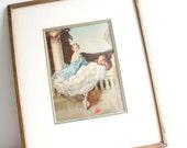 Vintage Framed Print W.E. Webster Print in Frame - Romance