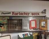 Vintage Metal 'Premium Horlacher Beer' Sign
