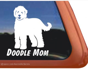 Doodle Mom   DC777MOM   High Quality Adhesive Vinyl Goldendoodle Window Decal Sticker