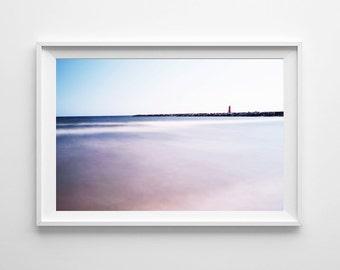 Lake Michigan Art - Lighthouse Art, Tranquil Art, Lighthouse Decor, Lake Michigan Photography, Nautical Decor - Large Wall Art Available
