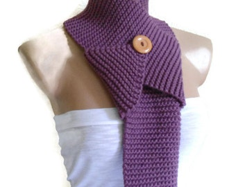 Purple  scarf, neck warmer,  gift, valentine, valentines day, winter trends, fashion, 2014, knitting, Hand made
