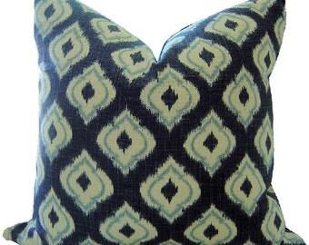 Navy IKAT Pillows - Navy Pillows - Ikat Pillows - SQUARE Ikat Pillows - Ikat Fabric - Ikat Toss Pillows - Blue Pillows - Ikat Throw Pillows