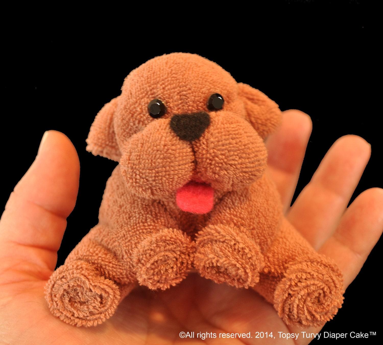 Washcloth Bunnies: Baby Washcloth Puppy WashAgami ™ Instructional Video