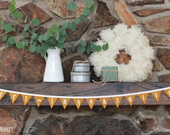 SALE! Thanksgiving Decoration, Thanksgiving Felt Banner, MARKED DOWN from 16.00