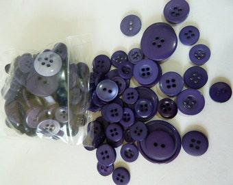 Purple 50g Button Bag