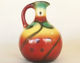 SPRITZDEKOR JUG or VASE - Art Deco or Moderne German or Polish Pottery - Bunzlau  Art Deco Moderne -  in the manner of Julius Paul