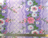 Vintage floral fabric FQ