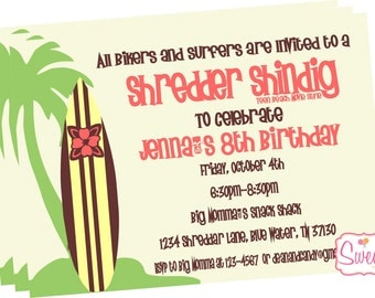 Teen Beach Movie Inspired Party Invitation-Printed